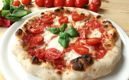 Example of homemade Neapolitan pizza